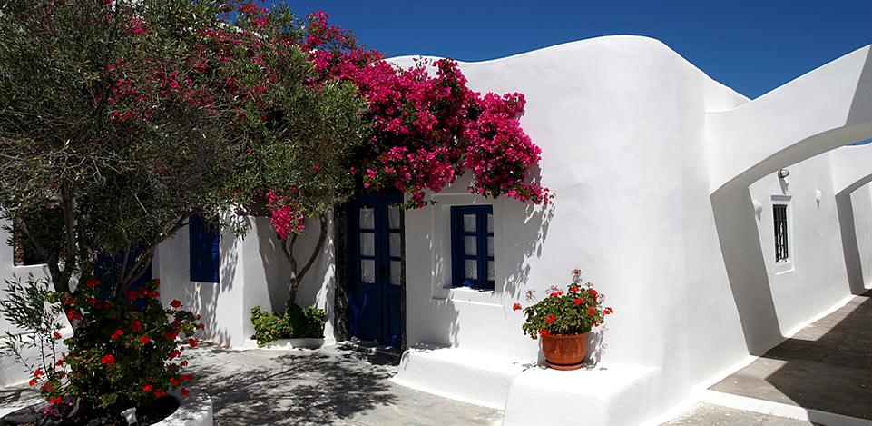 Isola di santorini case tradizionali di aghios artemios for Case tradizionali